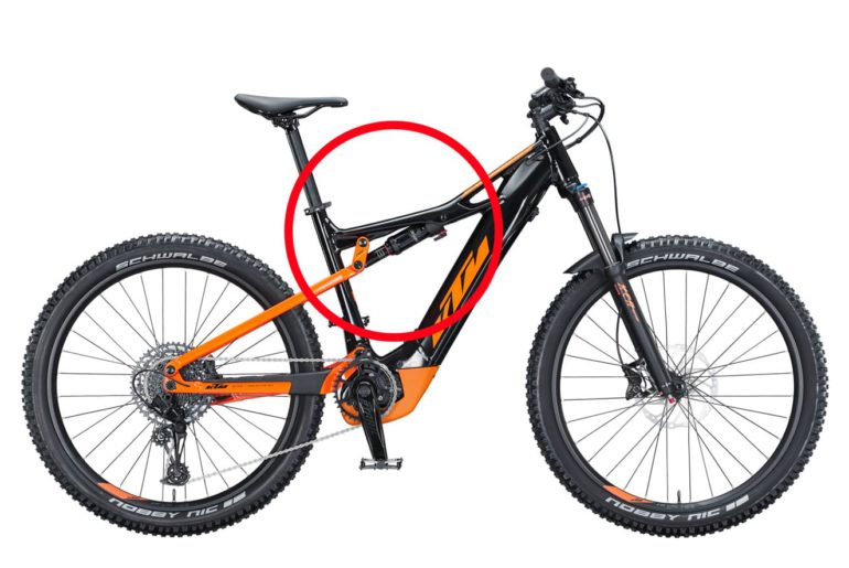 Federung eines Fully Mountainbikes